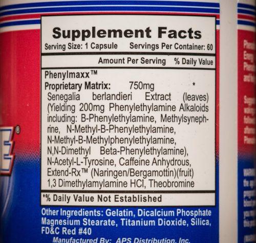 Состав жиросжигателя Phenadrine от APS Nutrition
