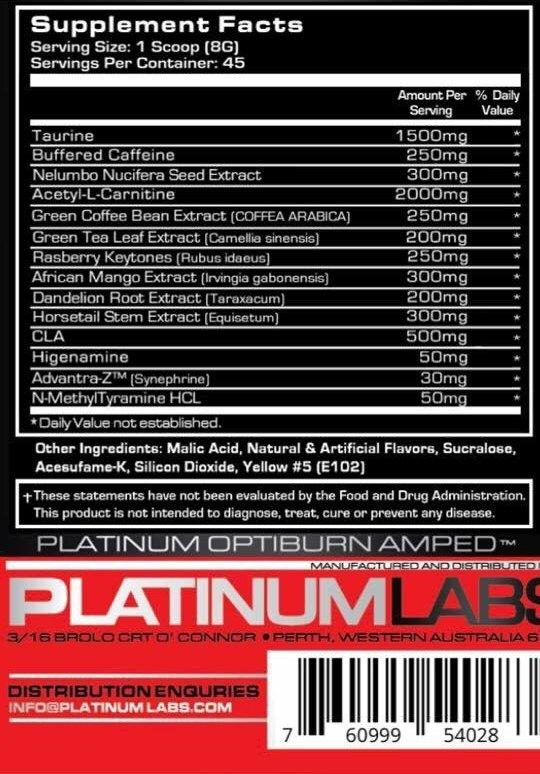Состав Platinum Labs Optiburn