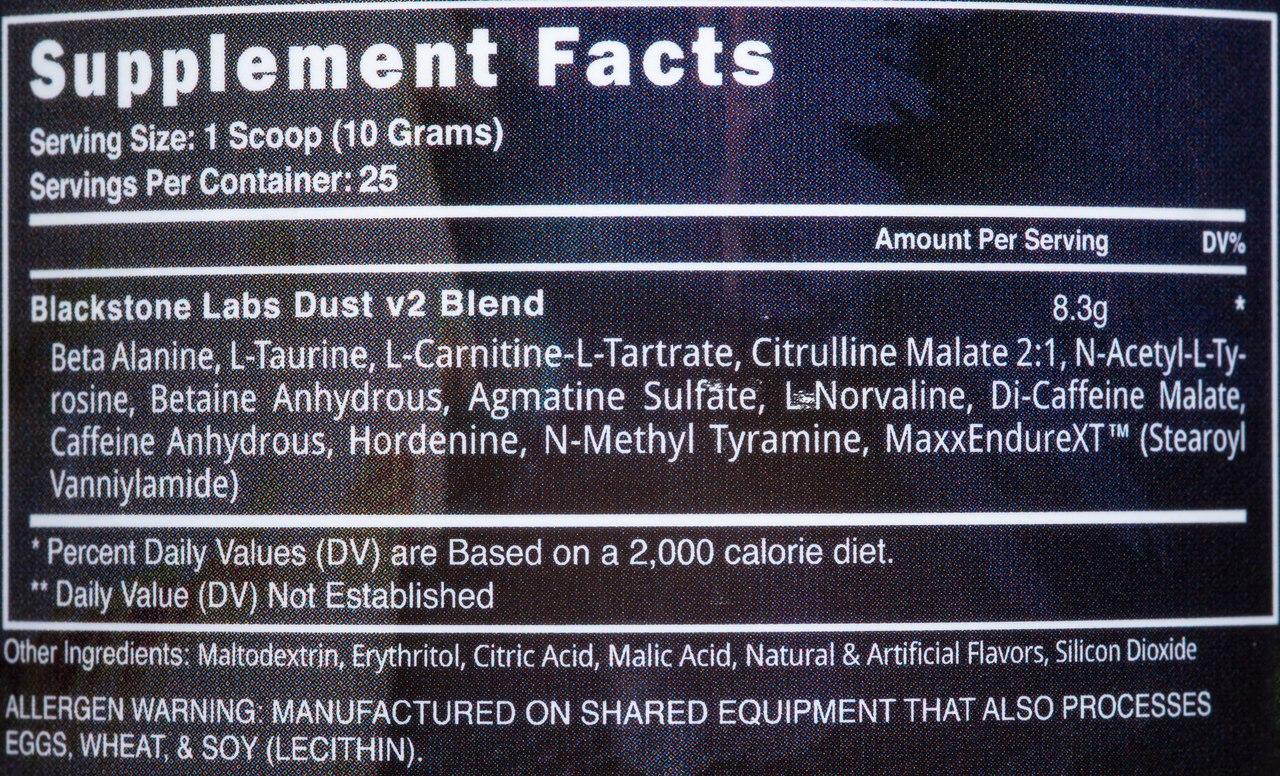 СоставBlackstone Labs Dust v2