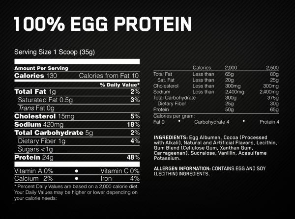 Optimum Nutrition 100% Egg Protein