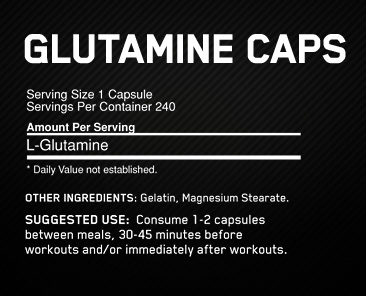 Optimum Nutrition Glutamine Caps 1000MG