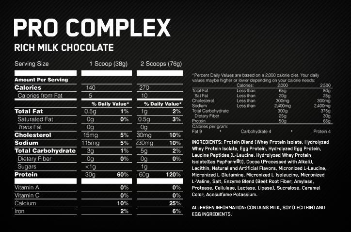 Optimum Nutritiom Pro Complex