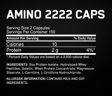 Optimum Nutrition Superior Amino 2222 Capsules