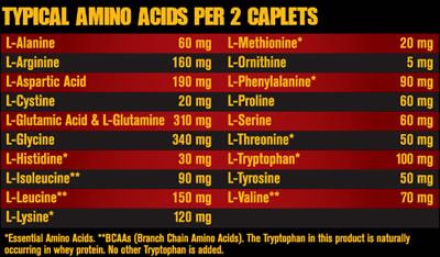 Состав Fit Foods Amino Mutant