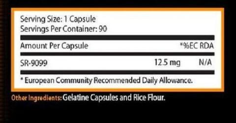 Состав Focused Nutrition SR-9099 Elite