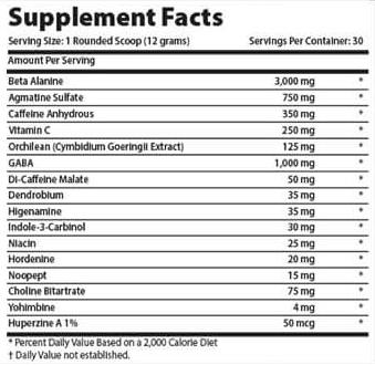 Состав Xcel Sports Nutrition Junky Juice