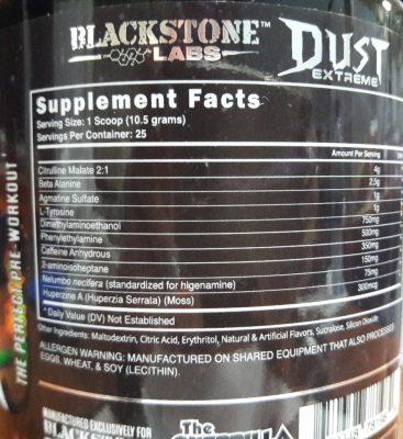 Состав Blackstone Labs Dust Extreme