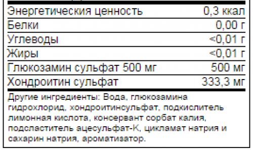 Состав Power System Glucosamin Chondroitin 1000 мл