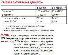 Состав Power System L Carnitin Fire 120000 мг