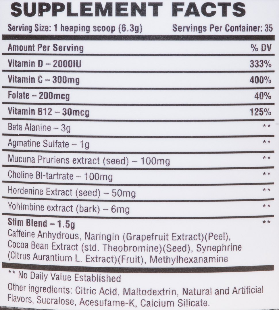 СоставBad Wolf Nutrition Howling