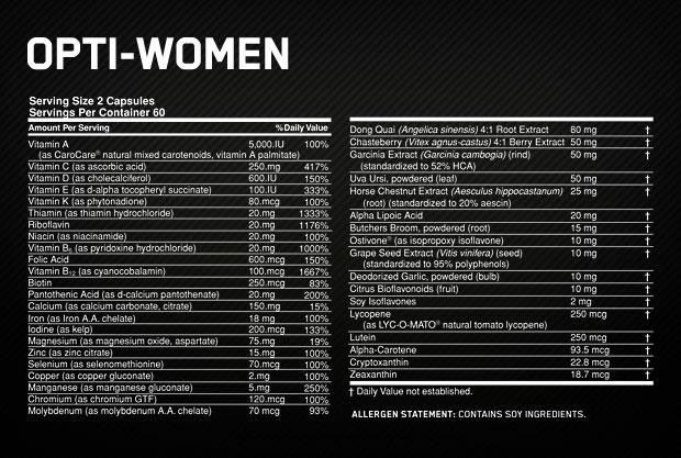 Opti-Women состав
