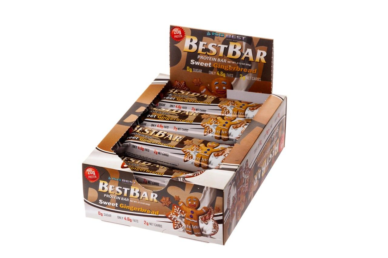 Протеиновый батончик Iso Best Best Bar «Сладкий пряник» (коробка)