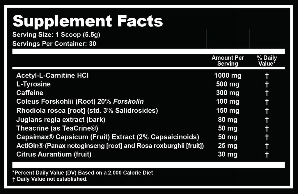 Состав Outbreak Nutrition Reclaim
