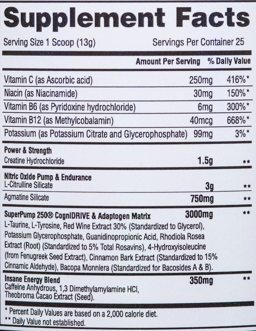СоставGaspari Nutrition SuperPump 250