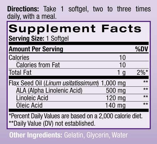 Состав Flax Seed Oil 1000 мг