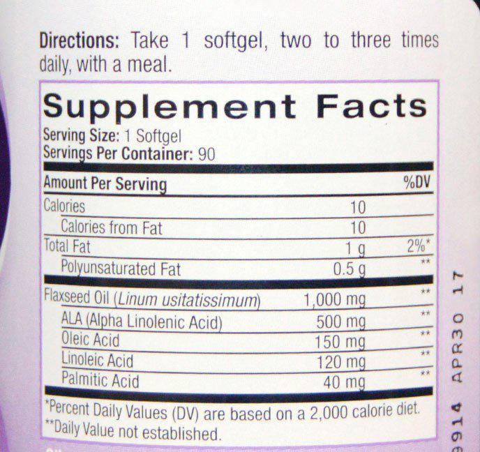Состав Natrol Omega-3 1000 мг