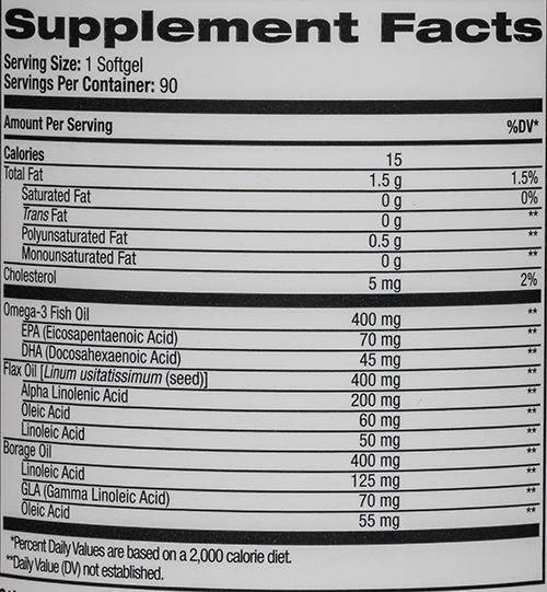 СоставNatrol Omega 3-6-9 Complex