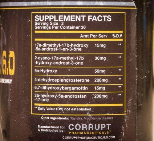 Состав Corrupt Pharmaceuticals GrowDrol 6.0