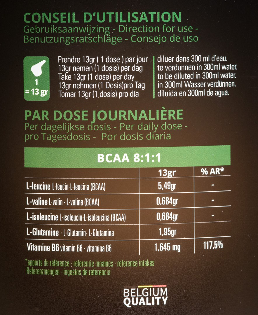 Состав Protech Sport Nutrition BCAA 8:1:1