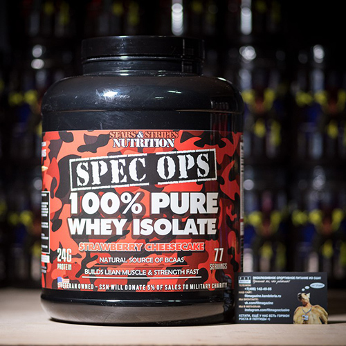Stars and Stripes Nutrition Spec OPS 100% Whey Isolate