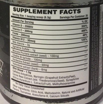 Состав Bad Wolf Nutrition Howling