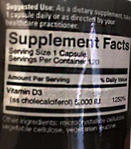 Состав Centurion Labz Vitamin D3