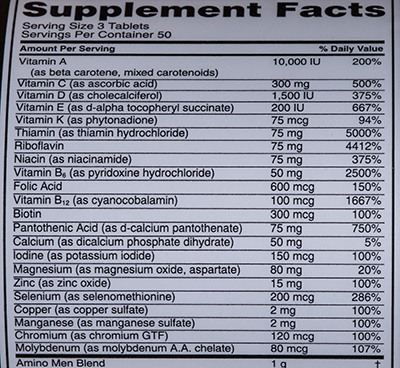 Состав Optimum Nutrition Opti-Men