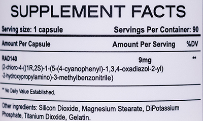 Состав Rise Nutraceuticals RAD140