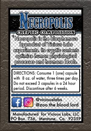 Vicious Labs Necropolis этикетка
