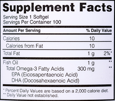СоставOptimum Nutrition Fish Oil