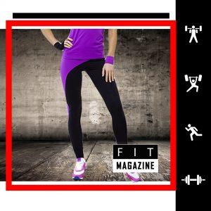 Лосины со вставкой на ноге (фиолетовые)