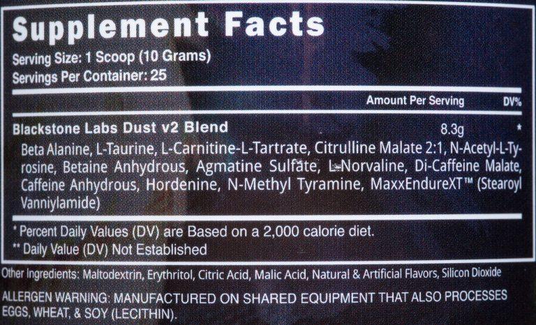 Состав Blackstone Labs Dust v2