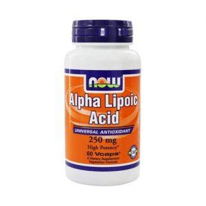 Состав Now Foods Альфа-липоевая кислота 250 мг