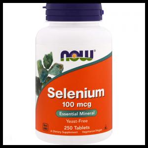 Now Foods Селениум 100 мг 250 таблеток