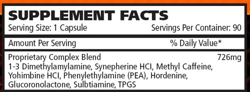 СоставKilosports Nutrition Hyperdrine