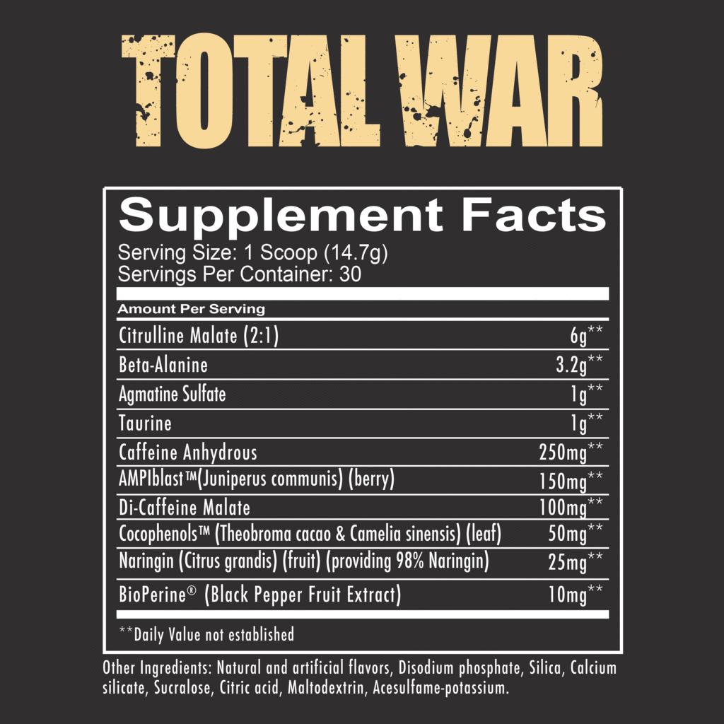 Состав пробникаRedCon1 Total WAR