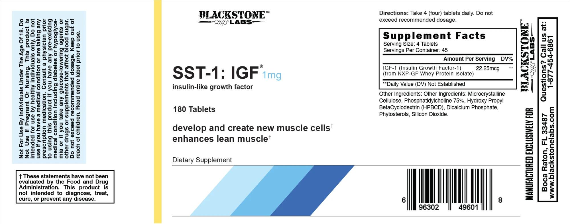 СоставBlackstone Labs IGF-1 + GH