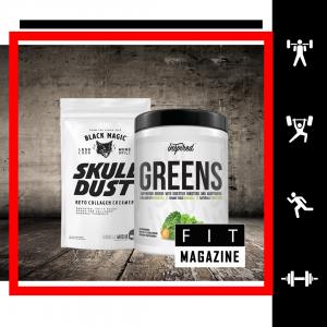 Стек Wellness ✅ «Черный череп и вдохновляющая зелень»