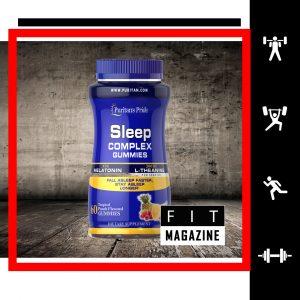 Puritans Pride Sleep Complex Gummy Melatonin and L-Theanine